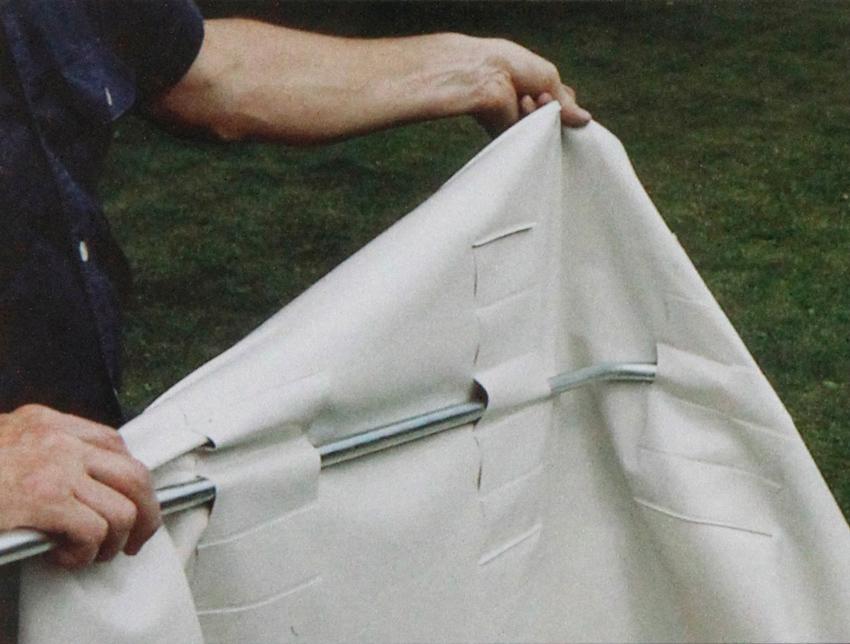 Keinun katos 3-istuttavaan Vaalea BEIGE (J114V), Matot ja liukuesteet, Keinun katokset