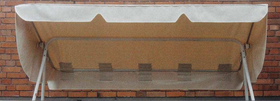 Keinun katos 3-istuttavaan VALKOINEN (J113V), Matot ja liukuesteet, Keinun katokset