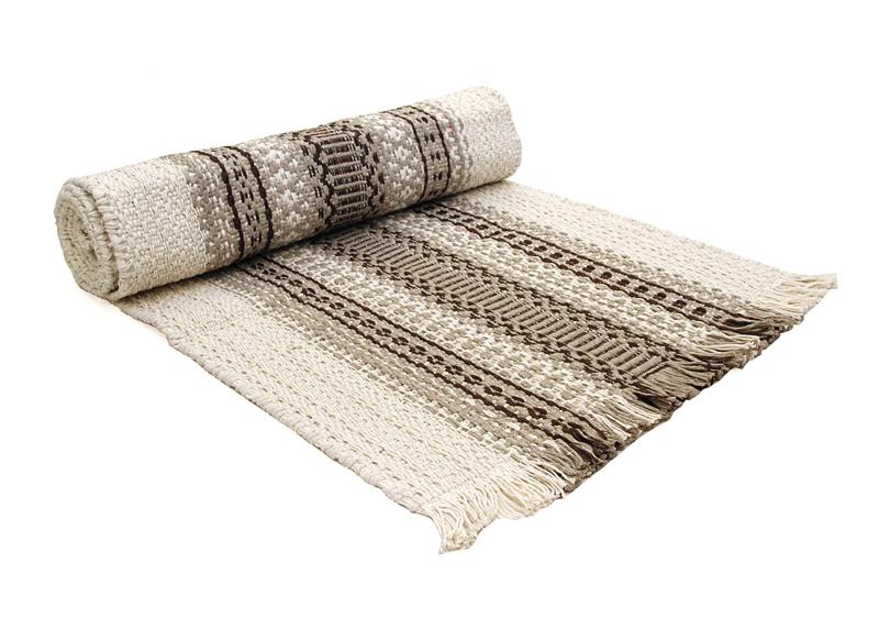 Keinutuolin matto Luonnonvalkoinen-Harmaa (MKM03V), Matot ja liukuesteet, Keinutuolin matot