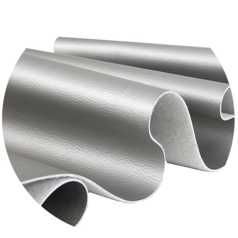 Keinonahka, hopea (FR100V), Kankaat, Keinonahka - Tekonahka