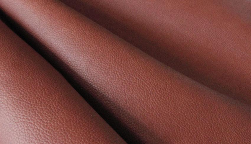 Keinonahka Terrakotan ruskea (TXT038V), Kankaat, Keinonahka - Tekonahka
