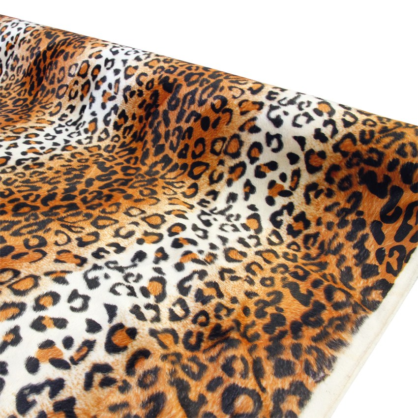 Velour kangas Leopardi oranssi (TP067V), [field_category]