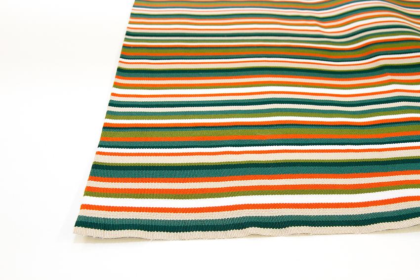 Markiisikangas Sardinia Oranssiraita Leveys 60cm Oranssi (TP072V), Kankaat, Markiisit, terassikankaat