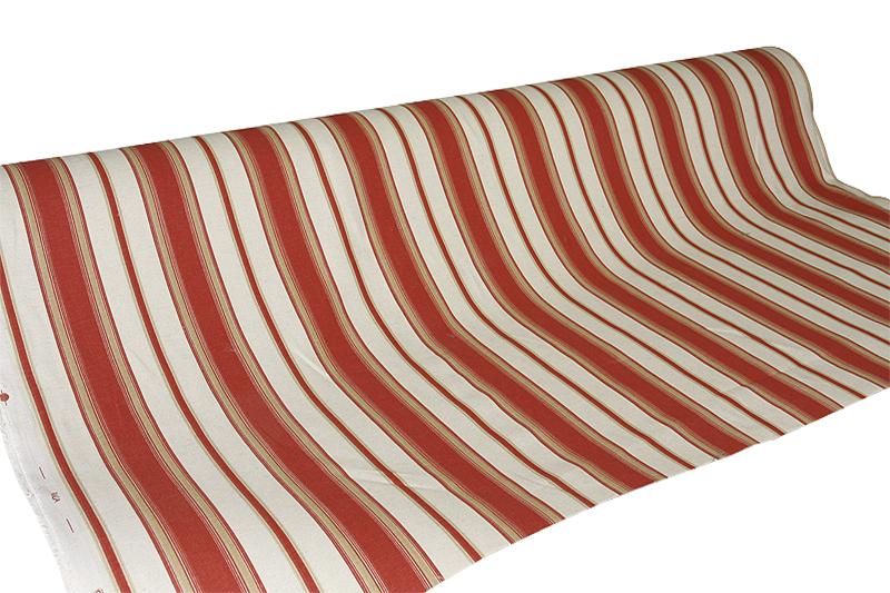 Tuplaleveä kangas 280cm Oranssi Raita (TP019V), Kankaat, Sisustuskankaat