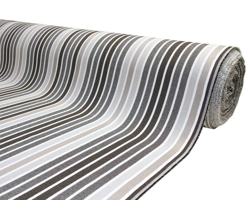 Relaxa TERASSIKANGAS Harmaa-Musta raita lev. 152 cm (TXT0153V), Kankaat, Markiisit, terassikankaat