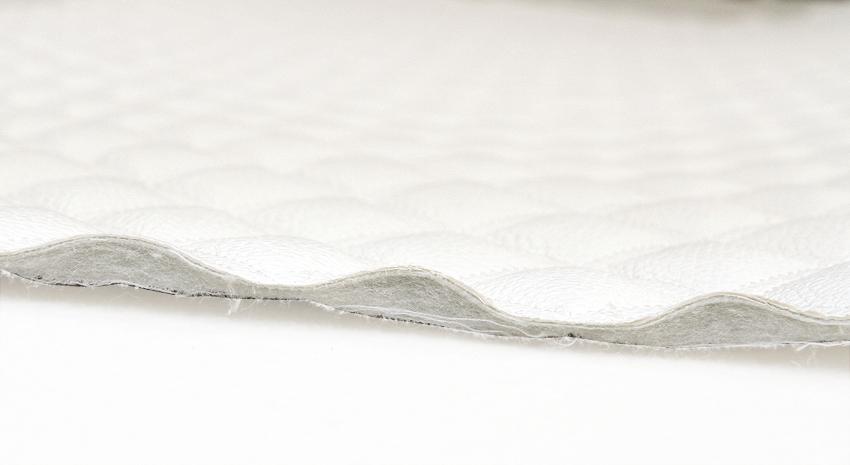 TIKATTU keinonahka Unique Valkoinen (TXT028V), Kankaat, Keinonahka - Tekonahka
