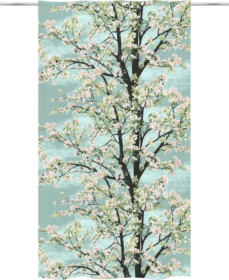 Vallila kangas, Omenapuu Aqua lev. 150cm (V148V), Kankaat, VALLILA kankaat