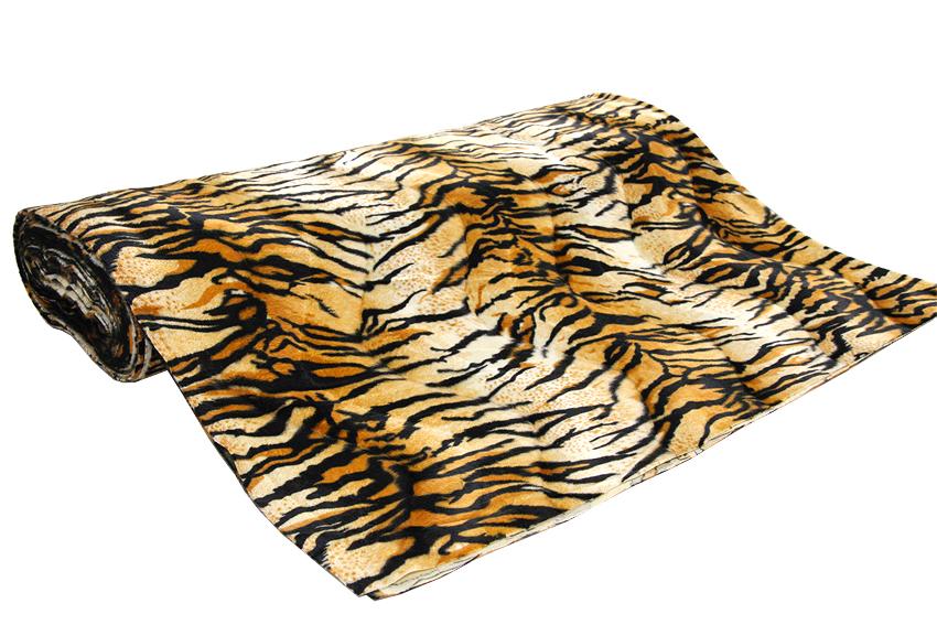 Velour kangas Tiikeri (TP068V), Kankaat, Tekoturkis ja Eläinkuosit