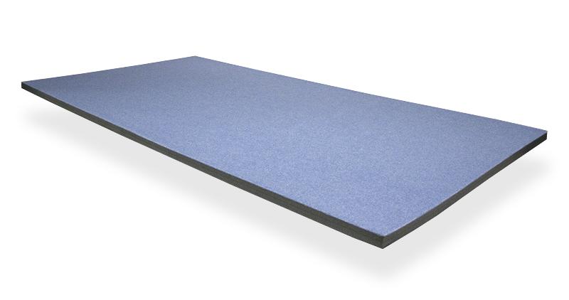 Solumuovialusta huopapinnoitteella n. 100x100x3,5-4cm (IN120V), Solumuovit, Solumuovit paloittain