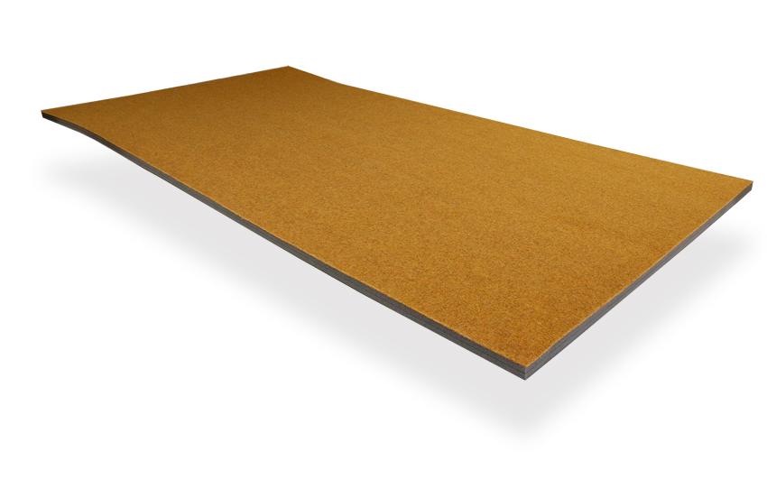 Solumuovialusta huopapintainen Okra n. 100x200x2,5cm (IN319V), Solumuovit, Solumuovit paloittain