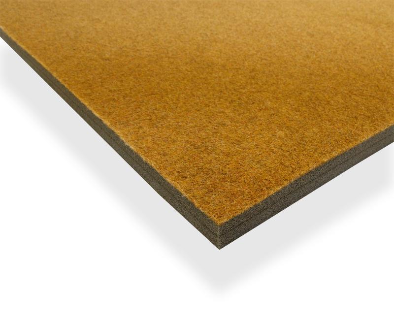 Solumuovialusta huopapintainen Okra n. 100x200x3,5cm (IN320V), Solumuovit, Solumuovit paloittain