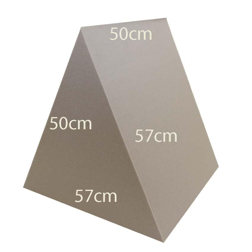 HARJAKOLMIO 50x50x57cm (Kolmio 575050), Vaahtomuovit, Vaahtomuovikuutiot - Vaahtomuovilieriöt -  Vaahtomuoviheppa