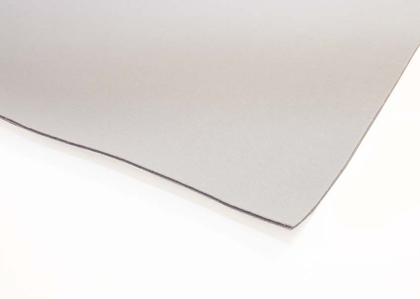Laminoitu 2 mm vaahtomuovi, Helmenharmaa (IM004V), Vaahtomuovit, Vaahtomuovi 3mm, 4mm, 5mm ja 6mm, Vaahtomuovi laminoitu