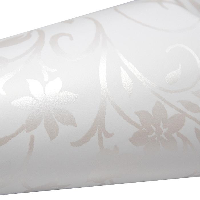 Vahakangas Valkoinen kukkakuvio, lev. 120cm (J104V), [field_category]