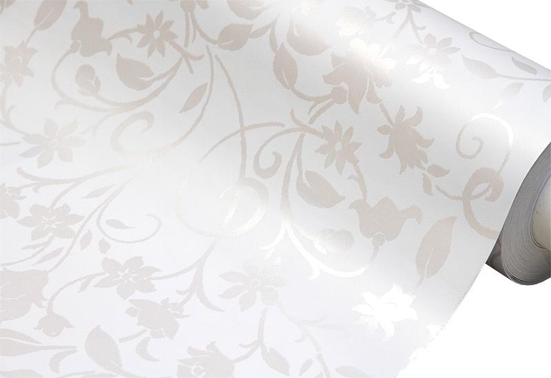 Vahakangas Valkoinen kukkakuvio, lev. 120cm (J104V), Vahakankaat ja pitsiliinat, Vahakankaat lev. 120 cm