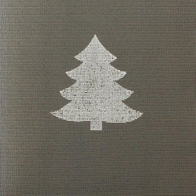 Joulu kaitaliina lev. 40cm Kuusi Harmaa (J107V), Vahakankaat ja pitsiliinat, Pitsiliinat, kaitaliinat