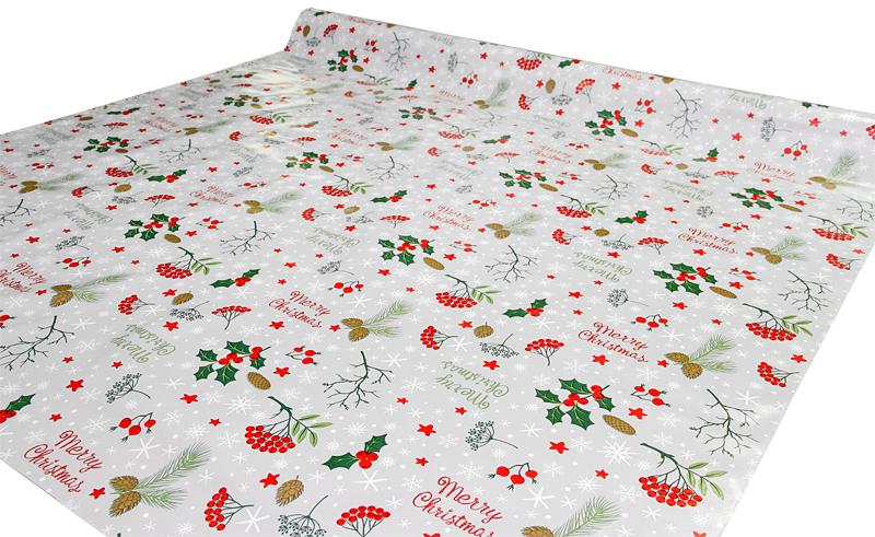 Joulu vahakangas Merry Christmas lev. 140cm (J121V), Vahakankaat ja pitsiliinat, Joulu vahakangas