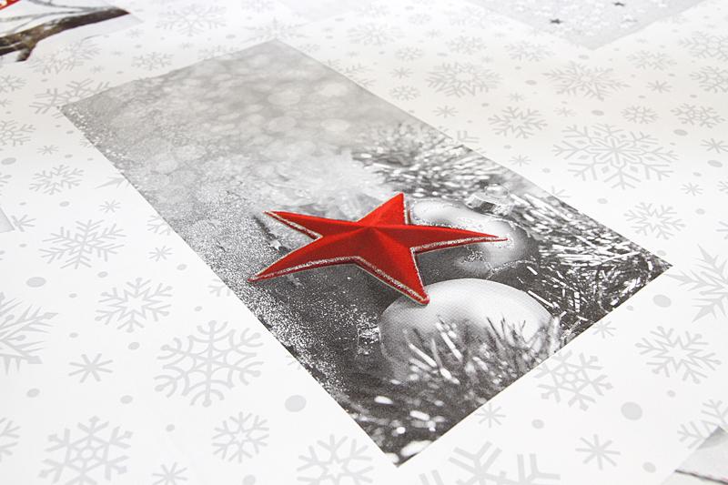 Joulu vahakangas Pallot lev. 140cm (J117V), Vahakankaat ja pitsiliinat, Joulu vahakangas