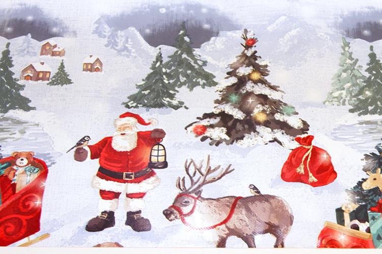 Joulu vahakangas Perinteinen Pukki lev. 120cm (J119V), Vahakankaat ja pitsiliinat, Joulu vahakangas