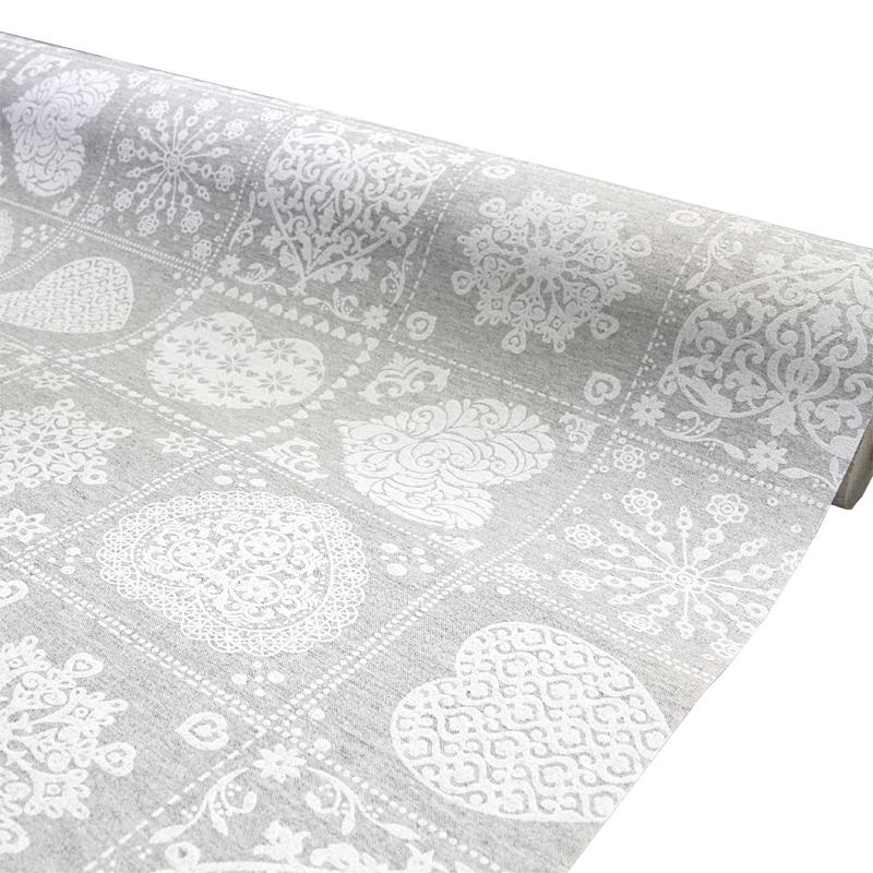 Vahakangas Akrylaatti Harmaa-Valko (J123V), Vahakankaat ja pitsiliinat, Tekstiilivahakankaat