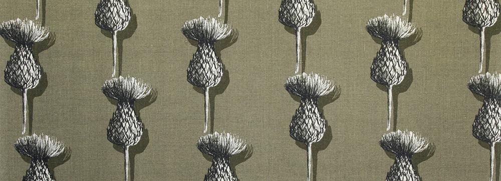 Vahakangas Cirsium (K67V), Vahakankaat ja pitsiliinat, Tekstiilivahakankaat