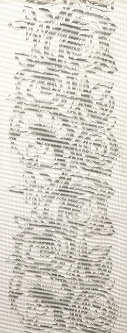 Kaitaliina leveys 40cm, Valko-Musta Ruusu (J17V), Vahakankaat ja pitsiliinat, Pitsiliinat, kaitaliinat