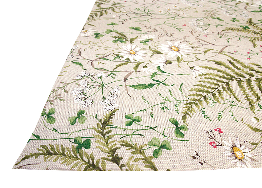 Vahakangas Niittykukat leveys 160cm (IT1106V), Vahakankaat ja pitsiliinat, Tekstiilivahakankaat