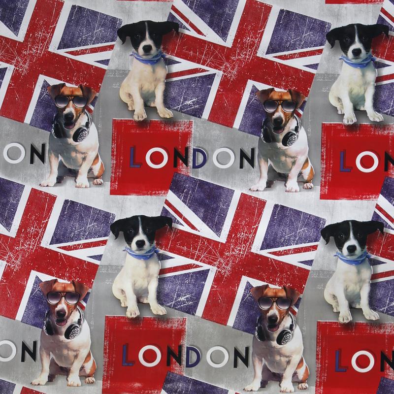 Vahakangas London Dogs,  leveys 140cm (STF004V), Vahakankaat ja pitsiliinat, Vahakankaat lev. 140cm