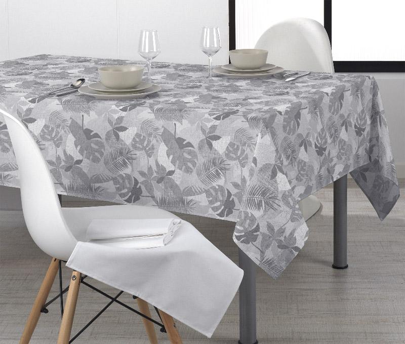 Vahakangas Akrylaatti Lehdet harmaa (MT128V), Vahakankaat ja pitsiliinat, Tekstiilivahakankaat