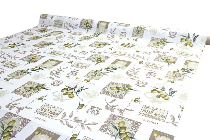 Vahakangas Akrylaatti Oliivi (IT1147V), Vahakankaat ja pitsiliinat, Tekstiilivahakankaat