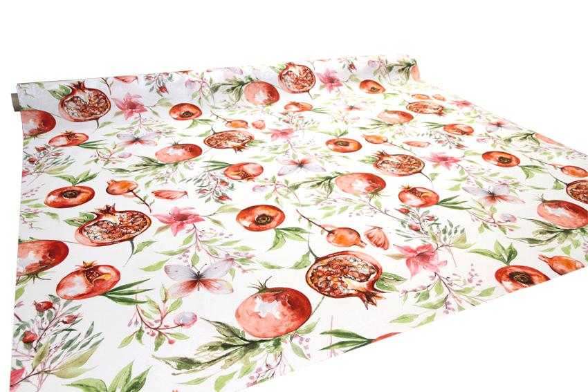 Vahakangas Akrylaatti Ruusunmarja (IT1137V), Vahakankaat ja pitsiliinat, Tekstiilivahakankaat