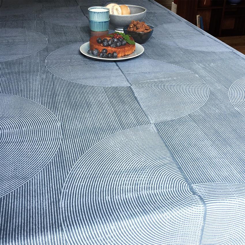 """Vahakangas """"Notes"""" Circle Dust Blue (IT1105V), Vahakankaat ja pitsiliinat, Tekstiilivahakankaat"""