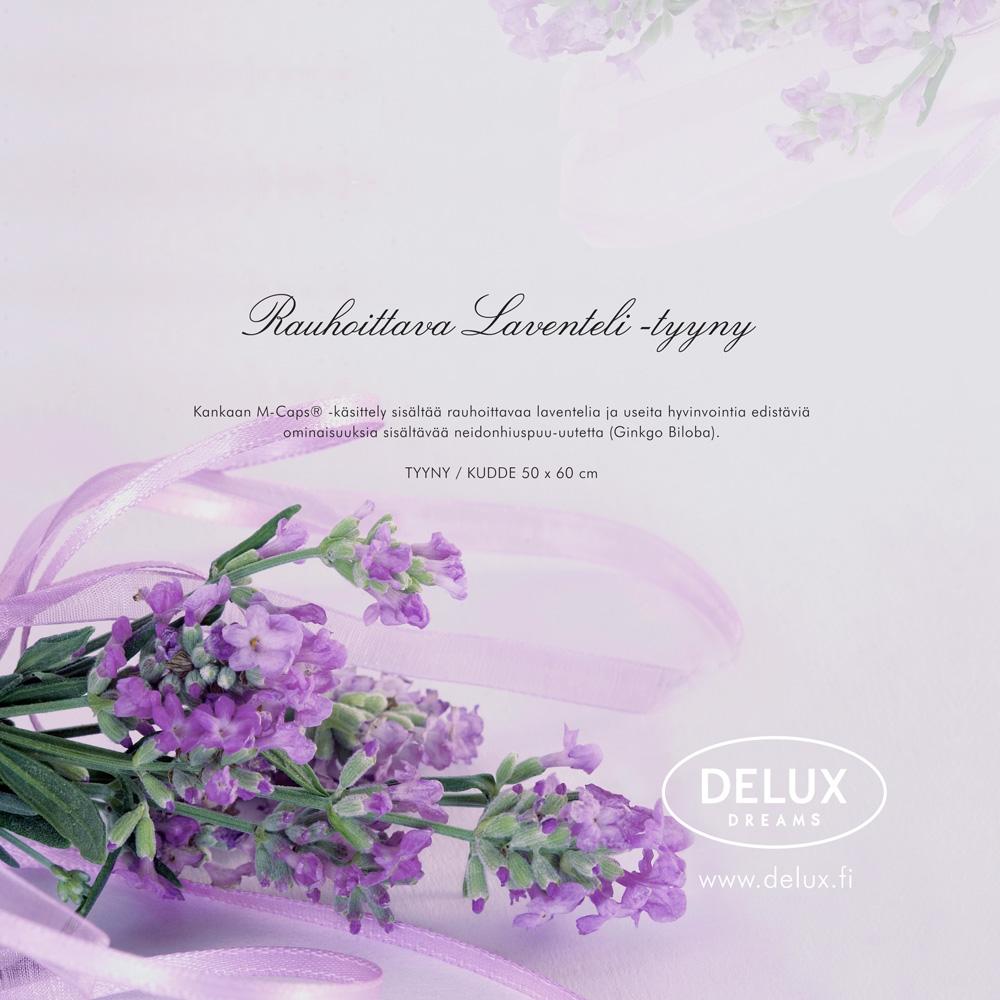 Delux Laventeli-tyyny 50x60cm (DX104V), Tyynyt ja sisätyynyt, Nukkumatyynyt