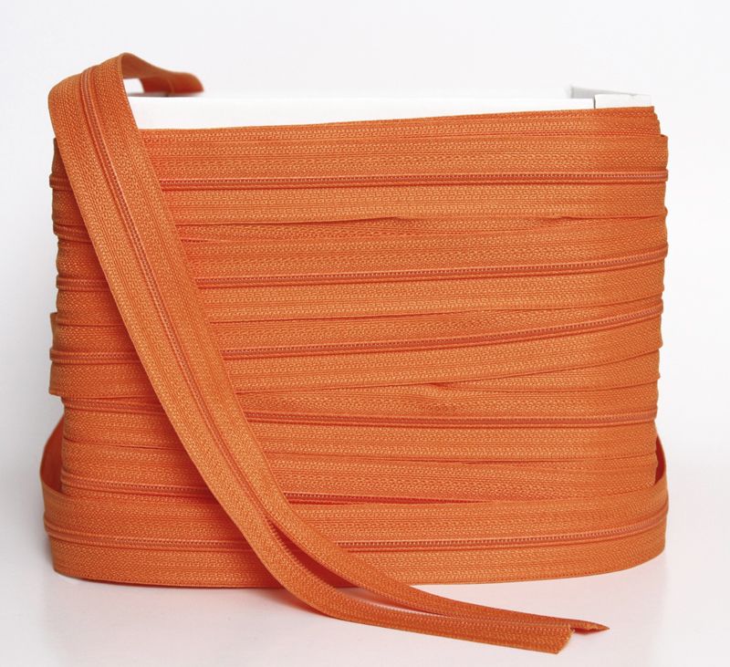 Vetoketju metreittäin, 4mm E-Väri Oranssi (FR299V), Ompelutarvikkeet, Vetoketjut, metriketjut