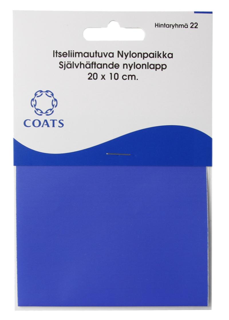 Itseliimautuva Nylonpaikka 20x10cm keskisininen (C022V), Ompelutarvikkeet, Muut tuotteet