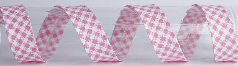 VINONAUHA Ruutu vaaleanpunainen (C0003V), Ompelutarvikkeet, Kanttinauhat, Puuvillanauhat