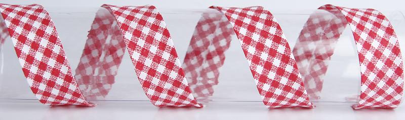 VINONAUHA Ruutu punainen (C0004V), Ompelutarvikkeet, Kanttinauhat, Puuvillanauhat