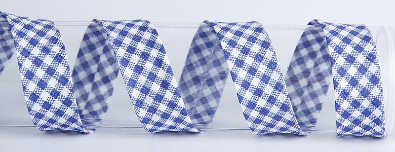 VINONAUHA Ruutu sininen (C0007V), Ompelutarvikkeet, Kanttinauhat, Puuvillanauhat
