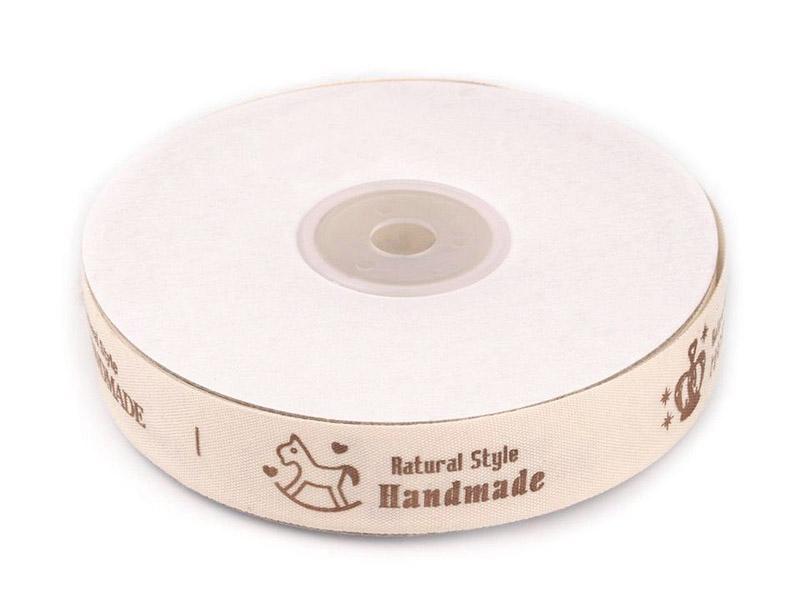 HANDMADE nauha lev. 20mm (ST066V), Ompelutarvikkeet, Handmade nauhat ja merkit