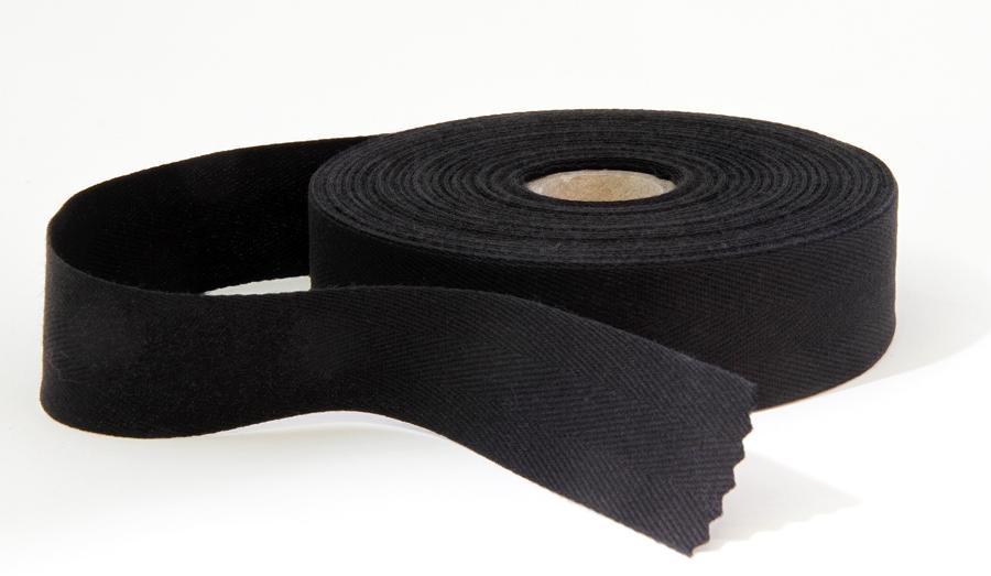Kanttinauha puuvilla lev. 30mm musta (902200), Ompelutarvikkeet, Kanttinauhat, Puuvillanauhat