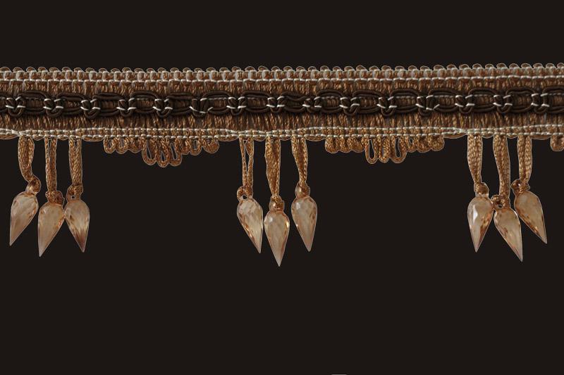 Koristenauha prismalla, ruskea ST001V, Ompelutarvikkeet, Helmi koristenauhat