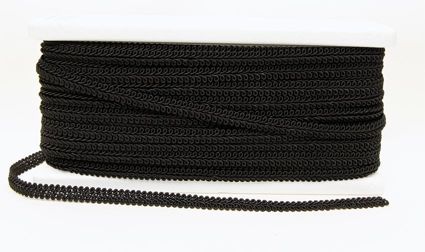 KORISTENAUHA Silmukka musta (DT047MV), Ompelutarvikkeet, Nauhat ja nyörit