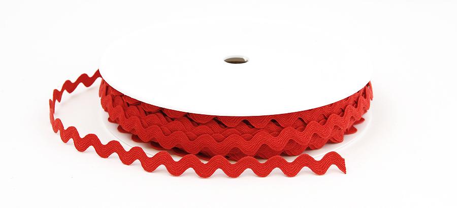SIKSAK-nauha lev. 11 mm Punainen (918171), Ompelutarvikkeet, Nauhat ja nyörit