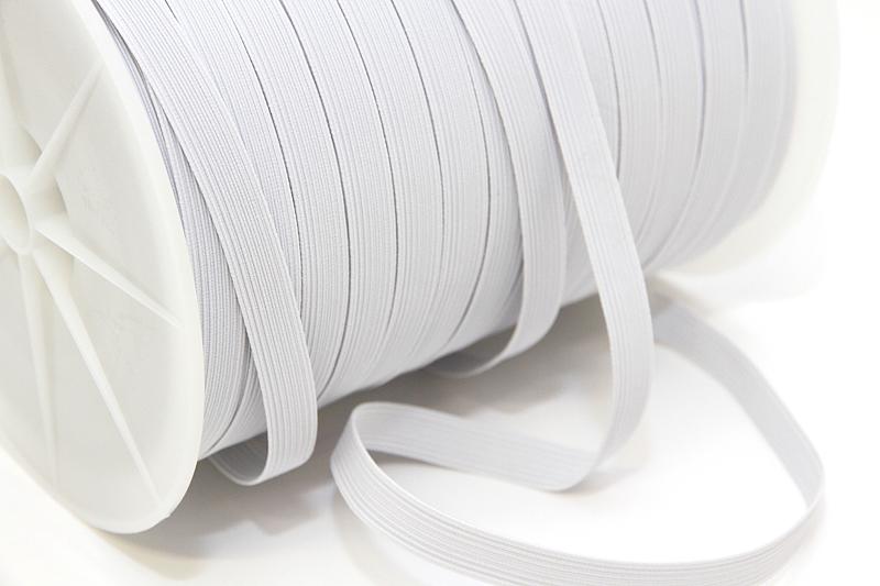 Kuminauha metreittäin lev. 10 mm Valkoinen (FR67V), [field_category]