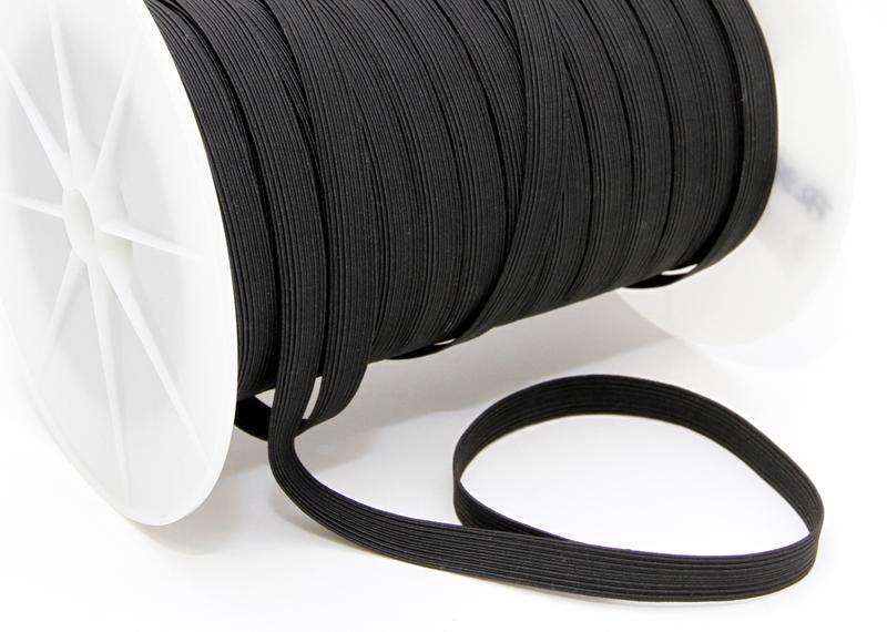 Kuminauha metreittäin lev. 10 mm Musta (FR66V), [field_category]