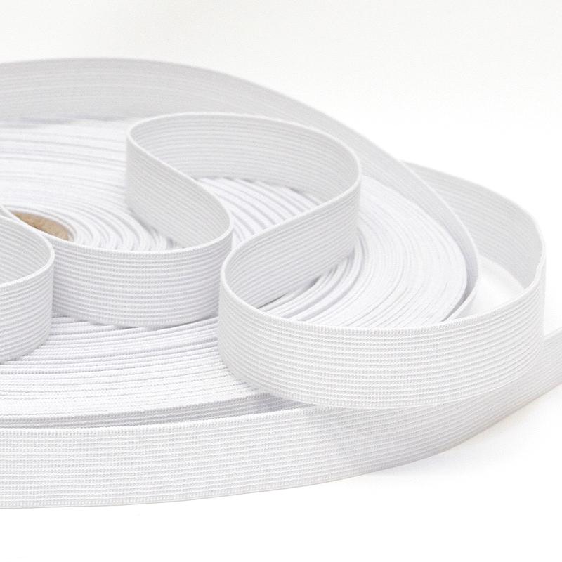 Kuminauha metreittäin lev. 20 mm valkoinen (FR65V), Ompelutarvikkeet, Kuminauhat