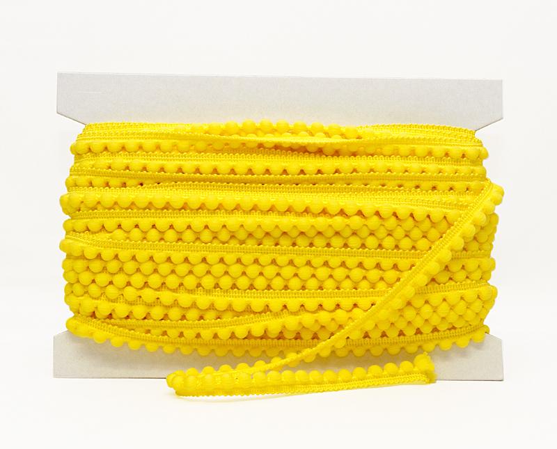 Pompulanauha, lev. 12 mm keltainen (DT005KV), Ompelutarvikkeet, POM POM pompulanauhat