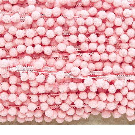 Pompulanauha 18mm vaaleanpunainen (DT007V), Ompelutarvikkeet, POM POM pompulanauhat