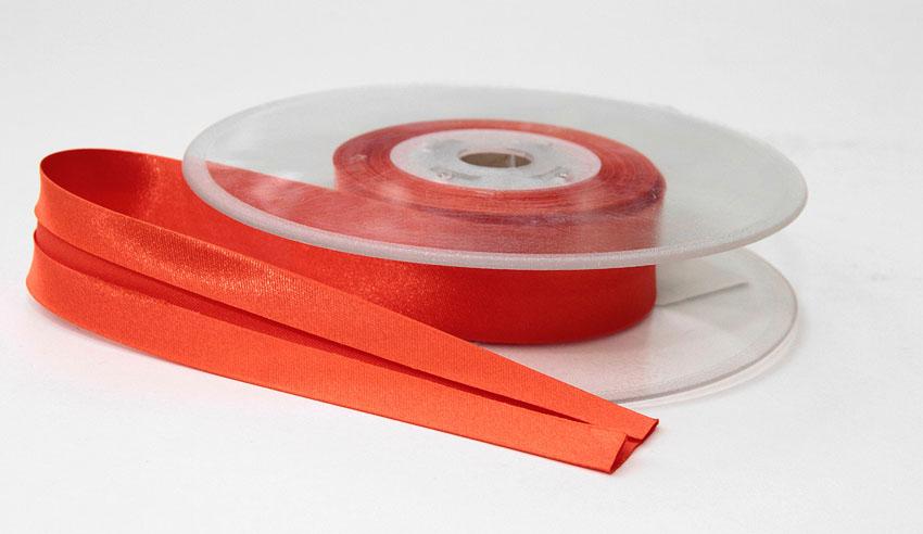 Satiinivinonauha lev. 25mm oranssi (FU31V), Ompelutarvikkeet, Satiininauhat
