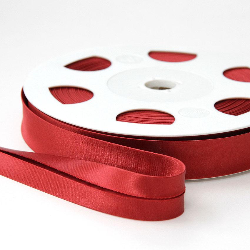 Satiinivinonauha lev. 20mm vanha punainen, tiili (FU25V), [field_category]